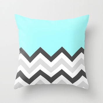 Color Blocked Chevron 16 Throw Pillow by Josrick