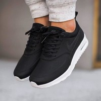 Nike Air Max Thea Black Premium Leather SneakersNWT2