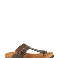 Buckled Thong Sandals