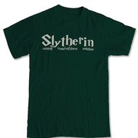 Slytherin House T-Shirt - Harry Potter Inspired Tee Sorting Hat Bookworm Witchcraft Malfoy Magic Fantasy Literature Gift Men Women Kids