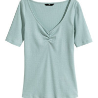 H&M Ribbed Jersey Top $12.99