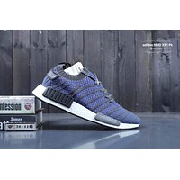 Adidas NMD XR1 fashion casual men and women sports shoes F-CSXY Navy blue