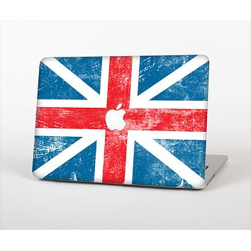 The Scratched Surface London England Flag Skin Set for the Apple MacBook Pro 13""