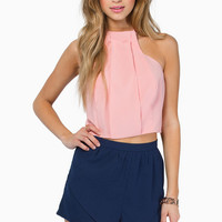 Up To My Neck In Pleats Top $28