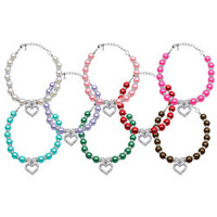 Mirage - Heart And Pearl Pet Necklaces