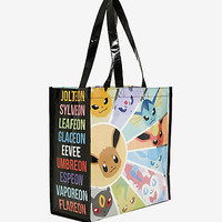 Pokemon Eevee Evolutions Reusable Tote