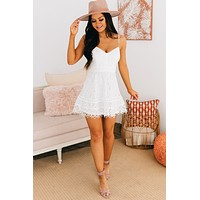 Memorable Moments Lace Mini Dress (Off White)
