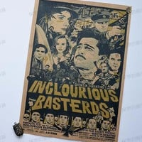 Posters For Walls INGLOURIOUS BASTERDS Classic Movie Poster Wall Bar House Art Decor Mix Items Posters Retro wall sticker