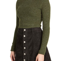 Daria Cropped Turtleneck Sweater