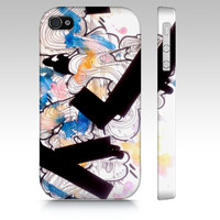 Blue abstract art iPhone 4 case - Watercolor and ink - iPhone 4 cover - Phone case - Cell Phone Cover - Contemporary art