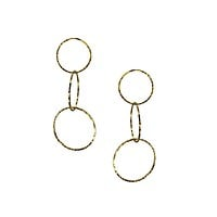 Gold Halo Lindy Links Earrings
