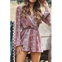 Secret Of Life Romper (Burgundy)