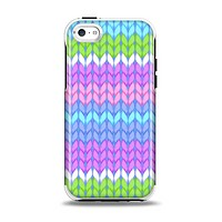 The Bright-Colored Knit Pattern Apple iPhone 5c Otterbox Symmetry Case Skin Set