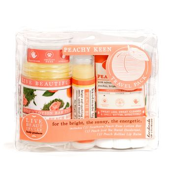 Peachy Keen Travel Pack -  Skin Care Set