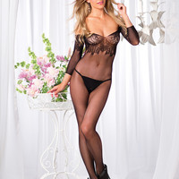 Floral Lace Top Body Stocking