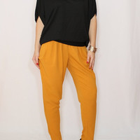 Black top Loose fit sweater Batwing sleeve for women Office fashion