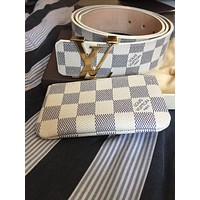 Louis Vuitton Damier Azur Belt and Wallet Tagre™