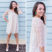 Champagne Daisy Lace Doll Dress