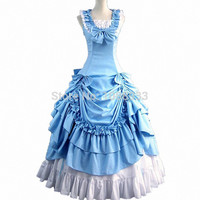 gothic lolita dress adult princess blue costume southern ball gown victorian dress halloween costumes for women fancy dress Alternative Measures - Brides & Bridesmaids - Wedding, Bridal, Prom, Formal Gown
