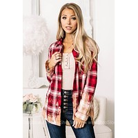 Calls Out To You Bleached Flannel Top