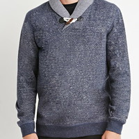 Marled Toggle Shawl Pullover
