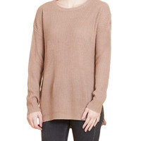 LE3NO Womens Oversized Long Sleeve Knitted Tunic Pullover Sweater (CLEARANCE)