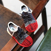 2016 autumn new arrival fashion design yeezy shoes children flat shoes boys and girls