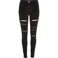 Black ripped high waisted Molly jeggings - jeggings - jeans - women