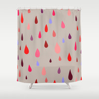 Bloody Rain Shower Curtain by Artipi