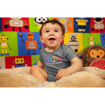 Baby Autism Shirt Seeing The World Differently Bodysuit Autism Tee Not Less Snap Suit Support Autism Awareness One Piece