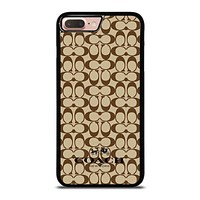 COACH NEW YORK BROWN iPhone 8 Plus Case Cover