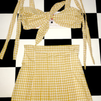 SWEET LORD O'MIGHTY! BANANA GINGHAM SKIRT