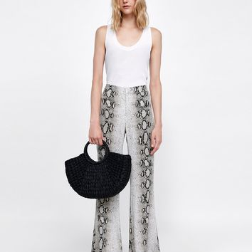 SNAKE PRINT TROUSERS DETAILS