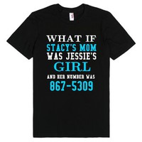 Stacy's mom Jessie's girl black tee t shirt-Unisex Black T-Shirt