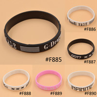 Lychee KPOP Bigbang G-Dragon GOT7 BTS Bantam Boys Infinite Same Style Fan Made Silicon Bracelet Wristband
