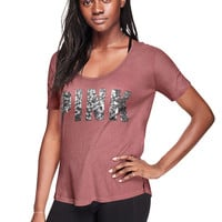 Bling Perfect Ladder-Back Crew Tee - PINK - Victoria's Secret