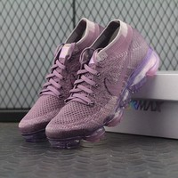 Best Online Sale Nike Air VaporMax Vapor Max 2018 Flyknit Women Purple Sport Running Shoes 849557-500