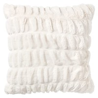 Ruched Faux-Fur Pillow Covers