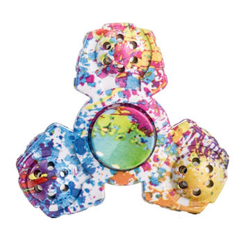 Tri-Spinner Fidget Hand Spinner Camouflage Multi-Color, EDC Focus Toys For Kids & Adults