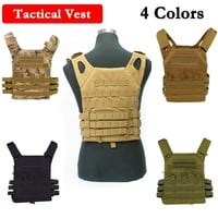 1000D Nylon JPC Tactical Vest Simplified Version Military Protective Plate Carrier Plate Carrier Vest Ammo Magazine Body Armor
