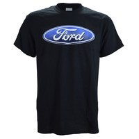 Ford Logo on a Black T Shirt