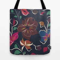 flowers blooming Tote Bag by SpinL