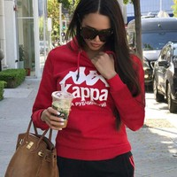 KAPPA Women Fashion Long Sleeve Top Sweater Pullover Hoodie
