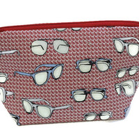 Eyeglasses Zipper Pouch Knitting Project bag Crochet Project Bag zippered pouch toiletry bag