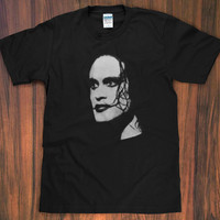 The Crow Brandon Lee T-Shirt - movie 90s graphic novel comic james o'barr vampire goth movie rock metal S M L XL 2X New