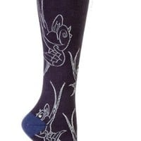 Sock It To Me Sparrows All Over Funky Knee High Socks