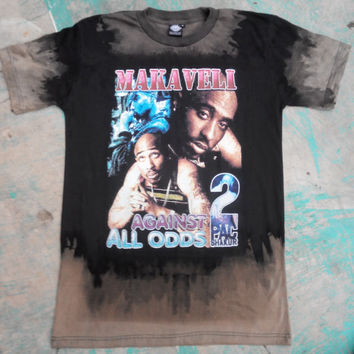 Inspired by Vintage Tupac Shakur Shirt Retro Custom Bleached Design Unisex Adult T shirt Limited