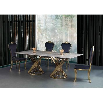 Creative Luxurious Marble Dining Table and Chairs Set
