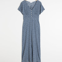 Button Down Jumpsuit - Blue Floral - Jumpsuits & Playsuits - & Other Stories GB