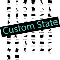 Custom State Sign YOUR CHOICE Print Custom Wall Clock Unique Trendy Dorm Room